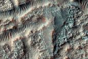 Deposit on Baum Crater Floor