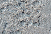 Sinuous Ridges in Crater Southeast of Hellas Planitia