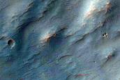 Valleys in Crater Northeast of Argyre Region