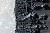 Western Rim of Rayed Crater in Daedalia Planum