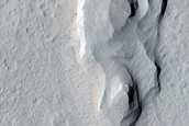 Cratered Dunes at Margin of Apollinaris Sulci