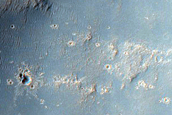 Narrow Lobate Form on Slope East of Gale Crater