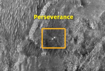 La Perseverance de NASA en el terreno de Marte