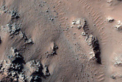 Flows on the Central Peak Region of Hale Crater