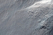 Gullies on Crater Wall