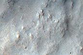 Terra Sirenum Crater Ejecta Boundary