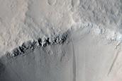 Small Crater near Ceraunius Fossae
