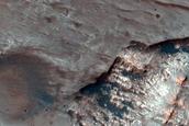 Central Peak Pit of 26-Kilometer Diameter Crater in Terra Cimmeria