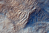 Layers along Mound in Hellas Planitia