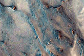 Crater Trio with Wind Streaks in Northern Syrtis Major Planum