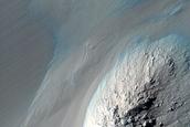 Slopes in Coprates Chasma
