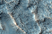 Flow Ejecta From Large Crater in East Hellas Planitia