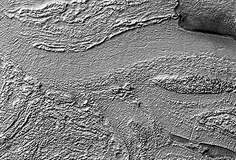 Banded Terrain in Hellas Planitia