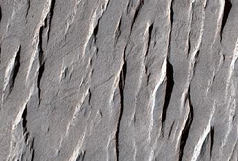 Yardangs on Mars