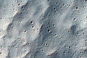 Southern Discontinuous Ejecta Boundary of Resen Crater in Hesperia Planum
