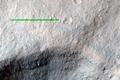 Crater on Floor of Ganges Chasma
