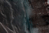 Monitoring of Steep Scarp in North Polar Layered Deposits Trough