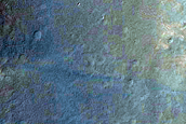 Small Crater on Ejecta of Larger Crater