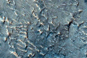 Layered Rock in Firsoff Crater