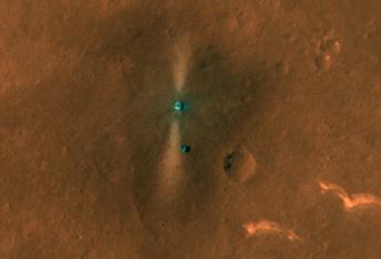 El módulo de aterrizaje de la Tianwen-1 y el rover Zhurong al sur de Utopia Planitia