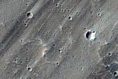 Candidate Recent Impact Site near Uranius Tholus