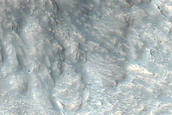 Impact Related Flow Features near Mojave Crater