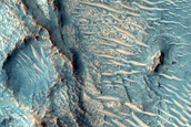 Subsurface Layers Exposed in Nili Fossae Trough