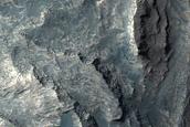 Northwest End of Stratified Mound in Juventae Chasma