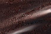 Mounds on North Polar Residual Ice atop Dunes