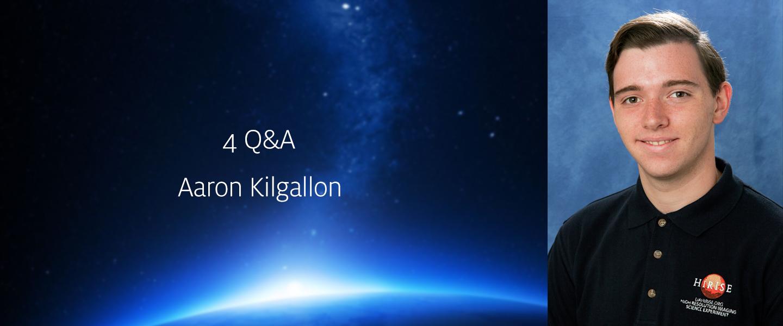 Interview with HiRISE student Aaron Kilgallon