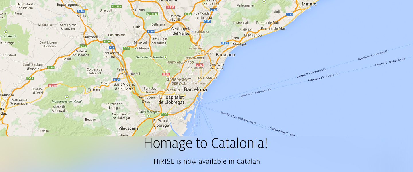Homage to Catalonia! HiRISE is now available in Catalan