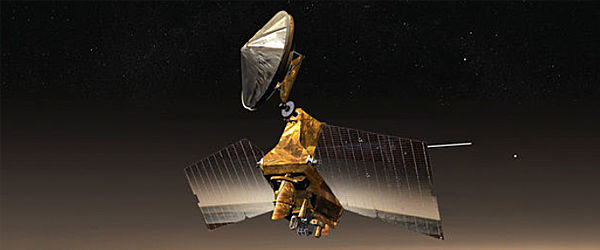 Artist Impression of the Mars Reconnaissance Orbit above Mars