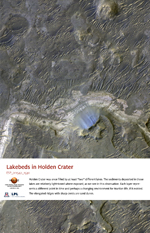 Lakebeds in Holden Crater