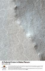A Pedestal Crater in Malea Planum