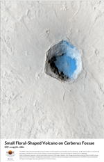 Small Floral-Shaped Volcano on Cerberus Fossae