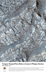 Tongue-Shaped Flow Below a Scarp in Phlegra Montes