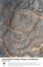 Utopia Planitia Scallops, Polygons, and Boulders