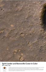 Spirit Lander and Bonneville Crater in Color