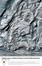 Folded Layers in Melas Chasma