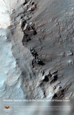Possible Opaline Silica in the Central Uplift of Elorza Crater