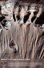Bedrock in a Trough in Asimov Crater