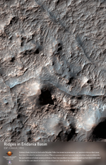 Ridges in Eridania Basin