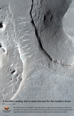 A Possible Landing Site in Aram Dorsum for the ExoMars Rover