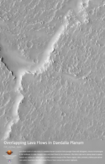 Overlapping Lobate Lava Flows in Daedalia Planum