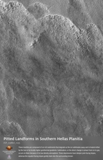 Pitted Landforms in Southern Hellas Planitia