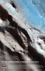 A Fresh, Shallow Valley in Northern Arabia Terra