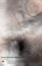 Cloudy Skies over Hypanis Vallis