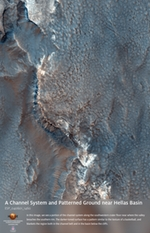 A Channel System and Patterned Ground near Hellas Basin
