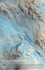 Alluvial Fans in Mojave Crater