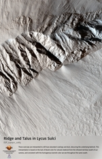 Ridge and Talus in Lycus Sulci